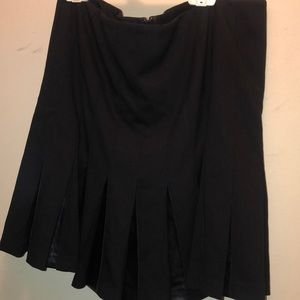 Ralph Lauren label size 10 leather pleated skirt